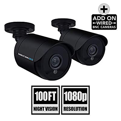 Night Owl Security 2 Pack Add-On 1080p Wired Bullet Cameras, Black (CAM-2PK-HDA10B-BU) from Night Owl