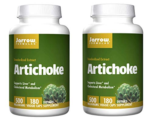 Jarrow Formulas Artichoke Standardized Extract for Healthy Liver and Cholesterol Metabolism 500 Milligrams (180 Veggie Caps) Pack of 2 ()