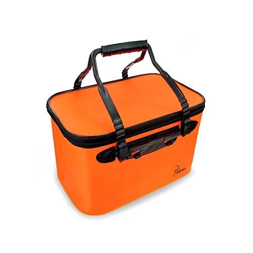 TONGBOSHI Car Washing Bucket Portable Folding Bucket Car Telescopic Barrel Collapsible Bucket Compression Brush Bucket (Color : Orange, Size : Without cover)