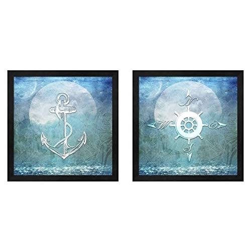 Metaverse LightBoxJournal 'Sailor Away' Framed Art (Set of 2) ()