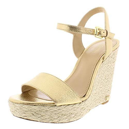 Michael Kors Womens Jill Open Toe Casual Platform Sandals, Pale Gold, Size -