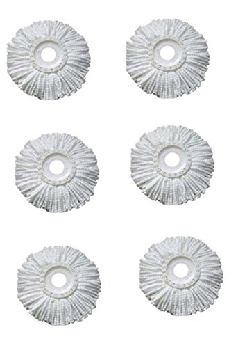 Royal Export Microfiber Spin Mop Refill (White, Pack of 6)