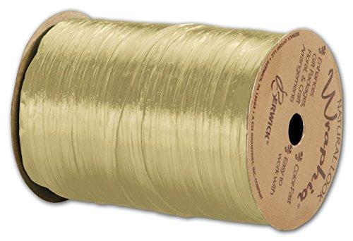 Solid Raffia - Pearlized Wraphia Oatmeal Ribbon, 1/4