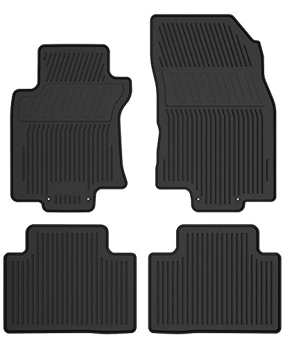 - YITAMOTOR Floor Mats Compatible for 2014-2018 Nissan Rogue, Includes 1st & 2nd Row All Weather Protection Rubber Floor Liners (NOT for Select or Rogue Sport Model)