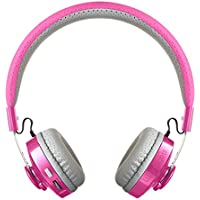 LilGadgets Untangled Pro Premium Childrens Wireless Bluetooth Headphones with SharePort - Pink