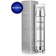 Eye Gel with Retinol for Dark Circles, Puffiness, Wrinkles and Bags, Day & Night Anti-Aging Eye Treatment Cream for Under and Around Eyes, Best Gift for Women and Men, 2 x 0.85oz
