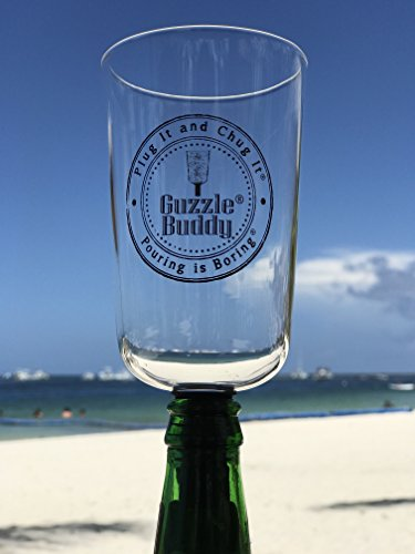 Guzzle Buddy Beer Bottle Glass, It Turns Your Bottle Into Your Glass, As seen on Shark Tank by Guzzle Buddy (Image #1)
