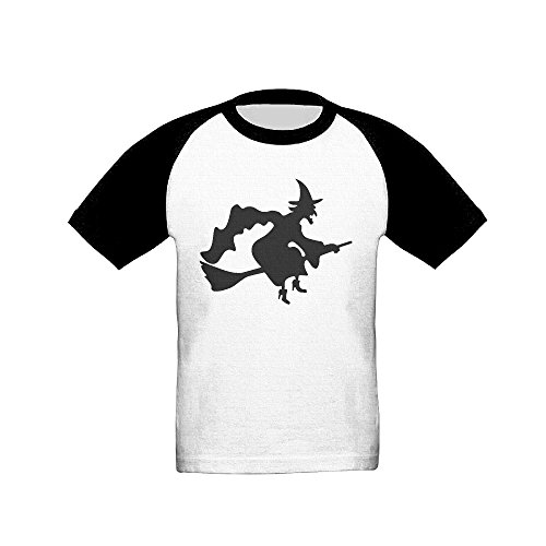 [Kids (Age 2-6T) Halloween Witch Short Sleeve Raglan Baseball T-Shirt, Casual Tees For Boys And Girls 3] (Wreck It Ralph Costume For Girls)