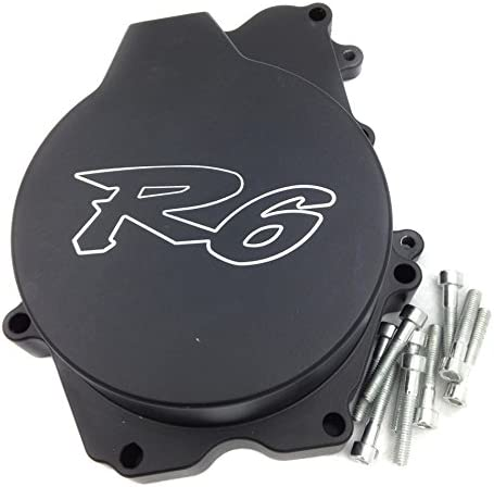 B00YYSKO82 XKMT-Engine Stator Cover Compatible With Yamaha Yzf R6 2003-2006 Yzf-R6S 03-09 Black Left Side