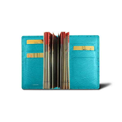 Lucrin - Luxury Passport Holder - Turquoise - Real Ostrich Leather by Lucrin