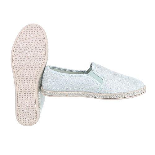 Ital-Design Slipper Damenschuhe Low-Top Moderne Halbschuhe Hellgrün