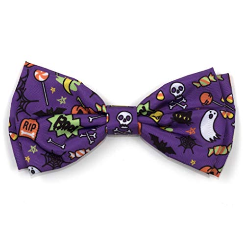 The Worthy Dog Fright Night Halloween Costume Bow Tie for Pets Purple, -
