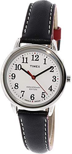 - Timex Women's Easy Reader TW2R40200 Silver Leather Analog Quartz Fashion Watch
