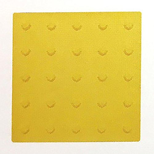 【20枚セット】 仮設専用 点字 パネル 300角 ポイントタイプ 黄 コT 代不 B01N03KO49