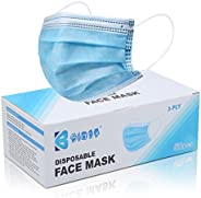 Bigox Face Mask Disposable Earloop Blue 50Pcs