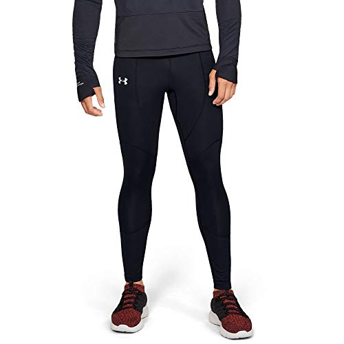 Under Armour Men's ColdGear Reactor WINDSTOPPER Tights, Black (001)/Reflective, Small by Under Armour (Image #1)