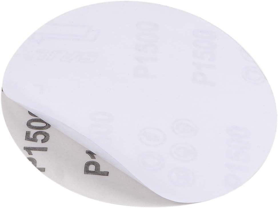sourcing map 5-Pulg PSA Disco Lijado Aluminio /Óxido Adhesivo Posterior Papel Lija 800 Granos 15 Pcs
