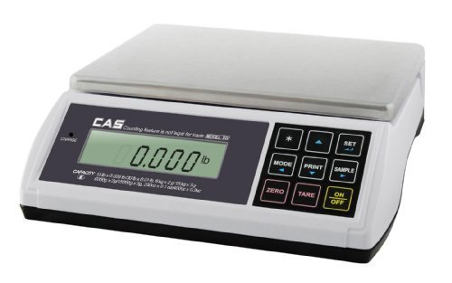 CAS ED-30 Digital Bench & Counter Scale, 0~15 x 0.005 lbs/15~30 x 0.01 lbs, Legal for Trade
