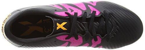 adidas X 15.3 Fg/Ag, Botas de Fútbol para Niños Multicolor (Core Black/Shock Pink/Solar Gold)
