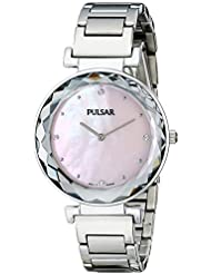 Pulsar Womens PM2079 Night Out Analog Display Japanese Quartz Silver Watch