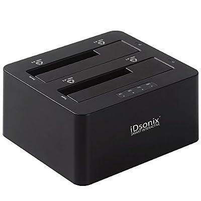 iDsonix USB 3.0 Dual Bay 2.5-Inch and 3.5-Inch SATA Hard Drive Docking Station (IDD-U3201-1) - Black from iDsonix