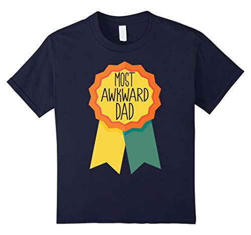 [Kids Most Awkward Dad Award Funny Father's Day T-shirts 6 Navy] (Funny Award Ideas)