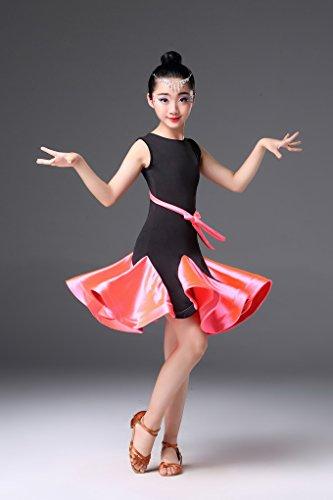 Papillon Sans De Noeud Enfant Rose Avec Fille Robe Danse Acmede Manche Latine Short nFzY4g