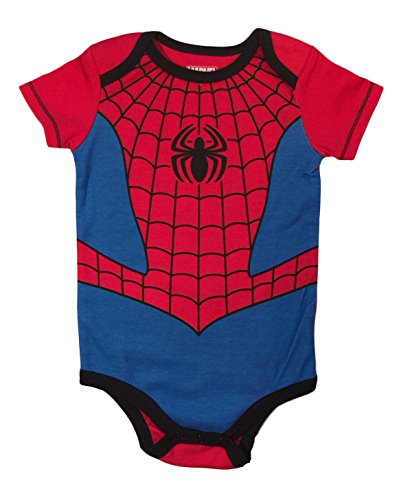 Marvel Spiderman Baby Boys Bodysuit Creeper Dress Up Outfit (24 Months) - Spiderman Body Suit