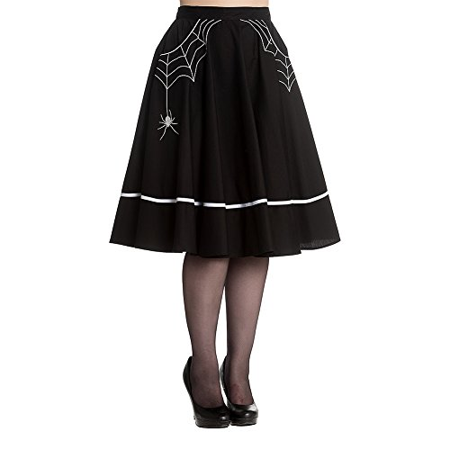 [Hell Bunny Miss Muffet Skirt (Black/White)] (Miss Muffet Costumes)