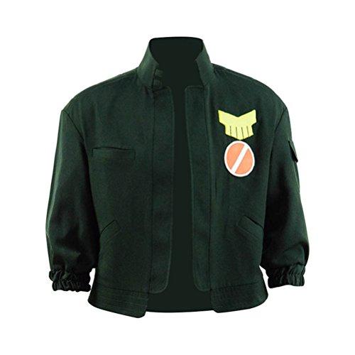 Qi Pao Popular Anime Main Character Junk Dog Coat Jacket Halloween Cosplay Costume (Custom Made, Green) -