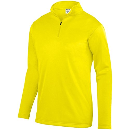 Augusta Activewear Wicking Fleece Pullover, Power Yellow, XXXX Large