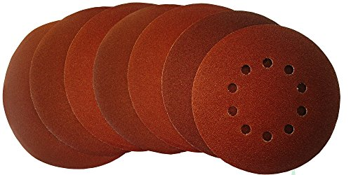 MyWork Professional Tools Velcro-Backed Sanding Discs 10 Holes Diameter 225 MM Grit P240 / Pack of 50 / 22560MW - 240 ()