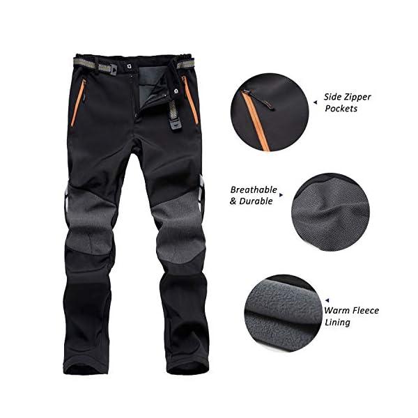 7VSTOHS Pantalon de randonnée Confortable pour Hommes Pantalon Chaud Coupe-Vent Escalade Marche Casual Pantalon pour…