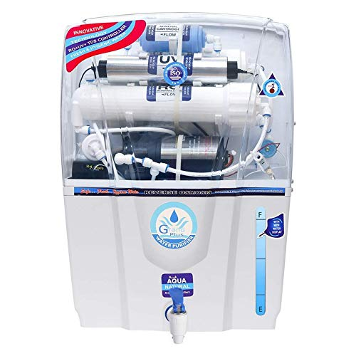 Aqua grand Plus RO+UV+TDS Advance Technology Electric Water Purifier with Metallic Sheet for Home – 12 liters
