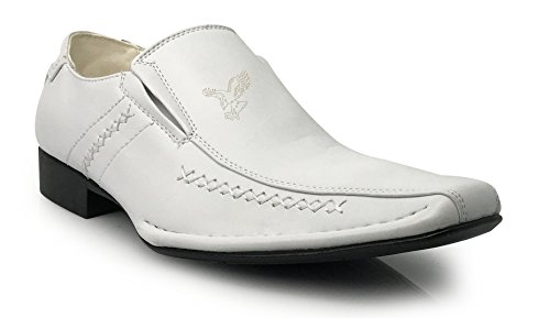 Mens White Casual Shoes - 5