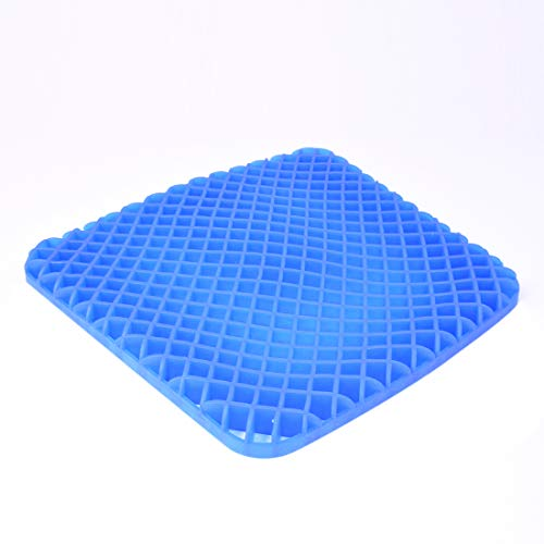 Gel Seat Cushion - Cool and Ventilated - Non-Slip , Seat Cushion - Relieves Sciatica and Coccyx Pain Housefar Photo #1