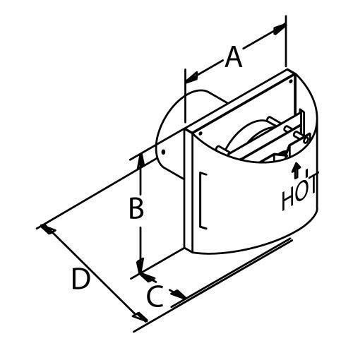 DuraVent 58DVA-HSC 5'' x 8'' DirectVent Pro - Galvanized Sconce Termination Cap (A, Galvanized