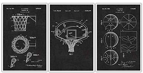 Vintage Basketball Hoop Patent Pillow Basketball Coach Gift Basketball Decor PP0323 Basketball Room Decor