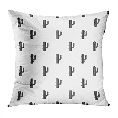Suike Throw Pillow Cover Mexican Cactus Pattern Seamless Simple Style Hidden Zipper Home Sofa Decorative Cushion Case 20x20 Inch Square Printed Pillowcase -