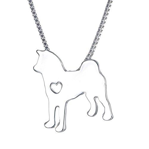 - WeiVan Samoyed Dog Pendant Necklace Akita Dog breed Necklace