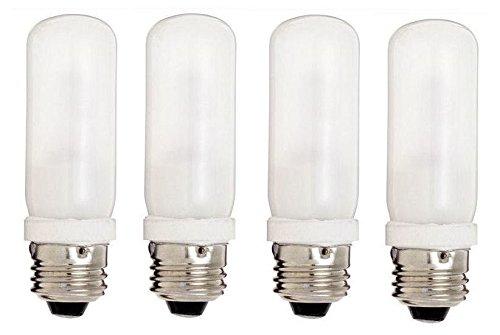 Replacement Photo Light Bulb - Alzo 250 Watt Quartz Halogen - Pack Of 4 - Frosted Double Envelope 3200K Light Bulb