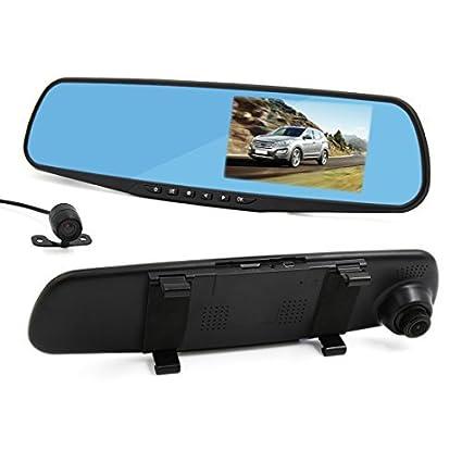 eDealMax 4,3 pulgadas TFT LCD HD 1080P 170 Amplio ángulo de la cámara Dual