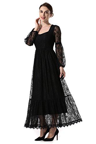 long black a line dress - 6