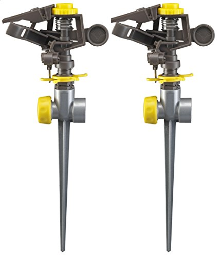 Nelson Plastic Pulsating Sprinkler Head on Metal Spike, Two-Pack 50202