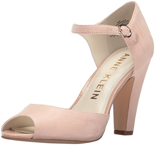 Anne Klein Women's Henrika Fabric Dress Pump, Light Pink, 8 M US