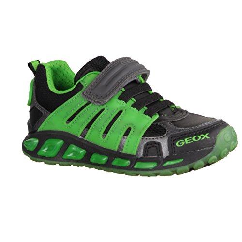Zapatillas para ni�o, color Verde , marca GEOX, modelo Zapatillas Para Ni�o GEOX J SHUTTLE BOY C Con Luces Verde