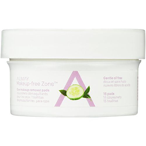 Almay Oil Free Eye Makeup Remover Pads, 15 Count in 1 box (Maximus Mascara)