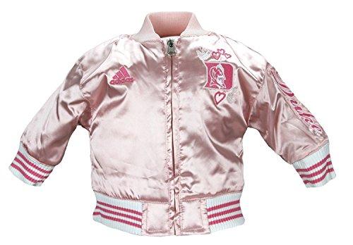 Adidas Duke Newborn Girls Varsity Satin Pink Jacket (0/3 months)
