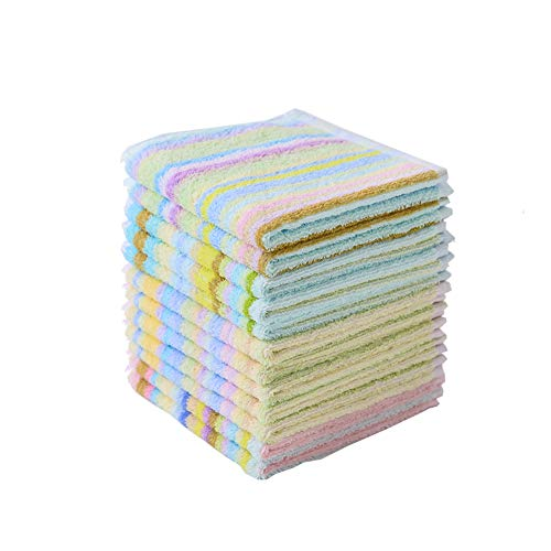 Scrubbing Dishcloth 100% Square Kitchen Dish Cloth Cotton Terry Towel 12