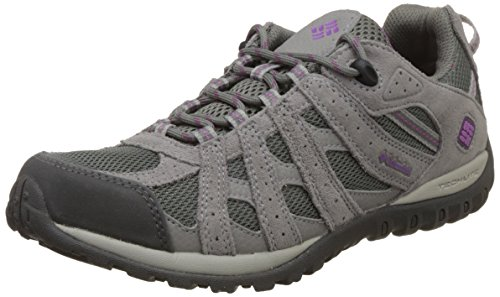 Columbia Women's Redmond Waterproof Hiking Shoe, Charcoal, Razzle, 8 B US